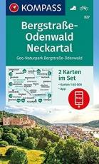 KOMPASS Wanderkarte Bergstraße-Odenwald, Neckartal, Geo-Naturpark Bergstraße-Odenwald