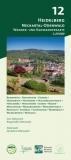 Wanderkarte Nr. 12 | Heidelberg Neckartal-Odenwald 1:20.000 (2019)